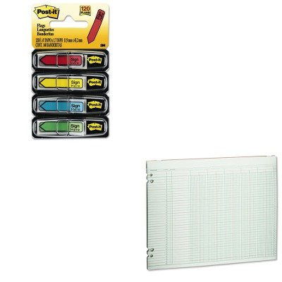 KITMMM684SHWLJG3010 - Value Kit - Wilson Jones Accounting Sheets (WLJG3010) and Post-it Arrow Message 1/2amp;quot; Flags (MMM684SH)