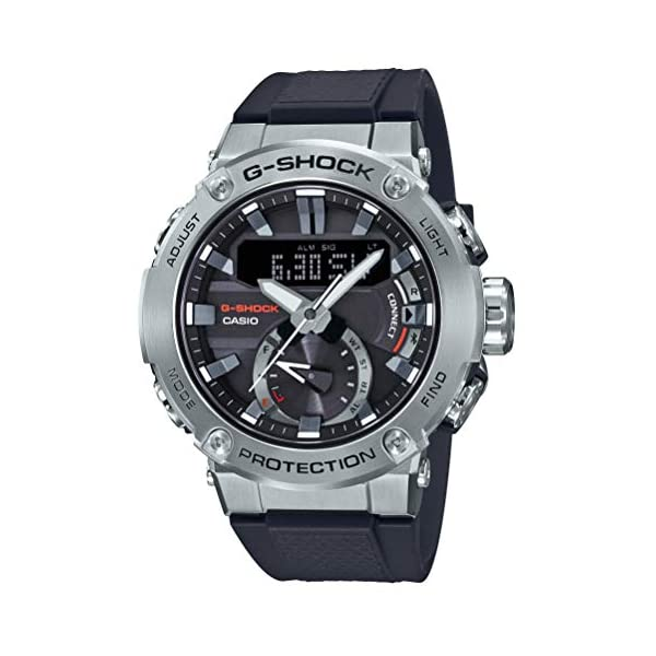 G-Shock Negro [Casio] Reloj G-Steel Estructura de núcleo Guardia de Carbono Solar GST-B200-1AJF Hombres 2