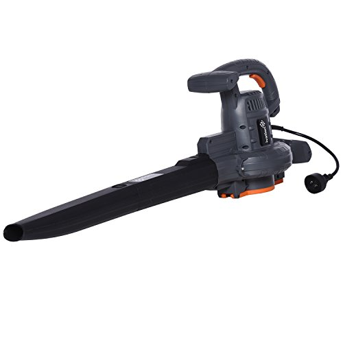Ivation Leaf Blower / Vacuum / Mulcher 12 Amp 230 MPH High Performance, 3 in 1, METAL impeller for better mulching and longer lasting. (Vacuum Grass)