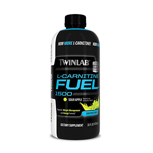 Twinlab L-Carnitine Fuel 1500, Sour Apple, 16 Fluid Ounce by Twinlab