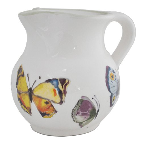 Abbiamo Tutto Butterfly Pitcher, 6-Inch by 8-Inch