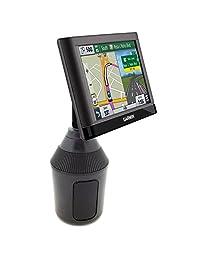 AccesoriosBasicos Soporte de portavasos para bebidas de bajo perfil para unidades Garmin Nuvi DriveSmart 42 52 52LM 54 54LM 55 55LM 55LMT 56 57 57LM 58 58LM 60 61 2577LT 2597LM 2597LMT 2558LMTHD 2598LMTHD GPS
