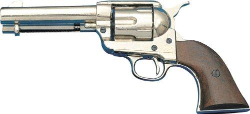 Replica Nickels - Denix Army Revolver (Replica) - Nickel - Non-Firing Replica