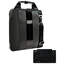 """VanGoddy Modern Charcoal Gray Messenger Bag for Acer Switch Alpha 12 / Aspire Switch 10 11 / Iconia Tab 10 / 10""""-12inch + Wireless Keyboard"""