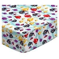 SheetWorld Fitted Sheet (Fits BabyBjorn Travel Crib Light) - Exotic Fish Aqua...