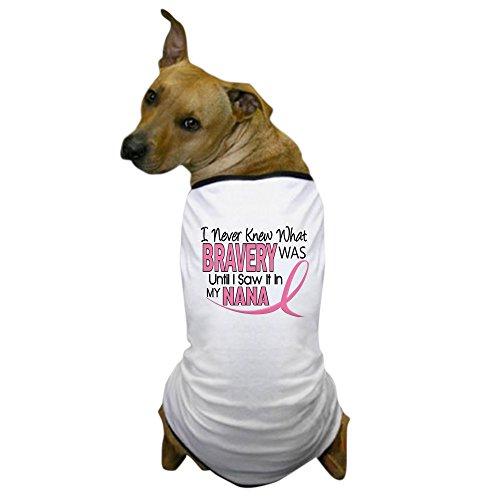 CafePress - Bravery (Nana) Breast Cancer Dog T-Shirt - Dog T-Shirt, Pet Clothing, Funny Dog Costume -