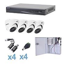 Turbo HD 1080p 4 Channel DVR, 4 Dome Cameras.