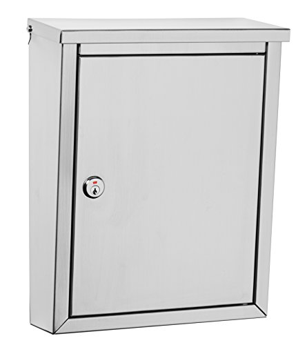 (Architectural Mailboxes 2507PS-10 Regent Locking Wall Mount Mailbox, Medium, Stainless Steel)