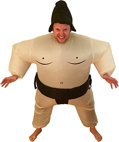 Halloween Inflatable Sumo Adult Fancy Dress Costume -
