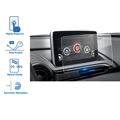 Lfotpp Mazda Cx 3 Mx 5 7 Inch Mzd Connect Car Navigation Screen Protector Glass  9H  Tempered Glass Center Touch Screen Protector Against Scratch High Clarity