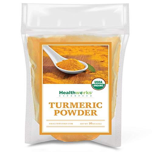 Healthworks Turmeric Powder 16 Ounces / 1 Pound | Ground Raw Organic | Curcumin amp Antioxidants | Keto Paleo Vegan NonGMO | AntiInflammatory