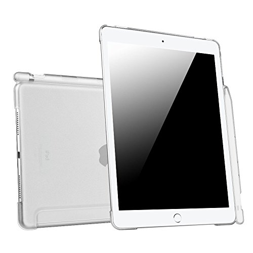 Fintie iPad Pro 9.7 Case with Apple Pencil Holder - Translucent Slim Hard Plastic Bumper Back Cover Protector for Apple iPad Pro 9.7 2016 Release (Compatible with Apple Smart Keyboard), Frost Clear