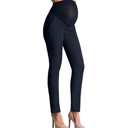 Marine Gravidanza Fit Con Donna Vita Pantaloni Trousers Elastico Con Di Morbidi Tasche Autunno Semplice Primaverile Stile Slim Eleganti In Pantaloni Di Pantaloni Glamorous Lunga Moda Pantaloni Stoffa Moda pr4wZqpUx5