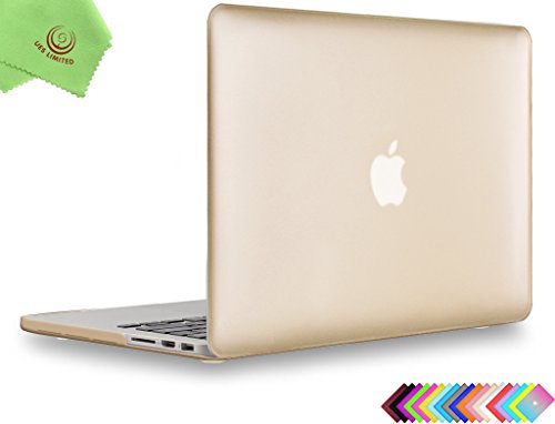 "UESWILL Luxury Gold Hard Shell Case for (Late 2012-Early 2015 Version) MacBook Pro 13"" with Retina Display (No CD-ROM) (Models: A1502/A1425) , Gold"
