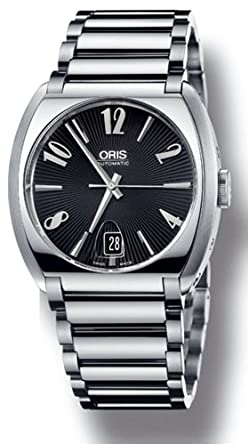 amazon com oris frank sinatra date mens black dial stainless steel