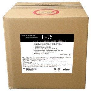 ROEBIC L-75 【グリーストラップ用バクテリア製剤排水改善悪臭除去】(20L入り)   B002YMHKFK