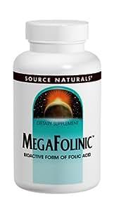 Source Naturals MegaFolinic 800mcg, Bioactive Form of Folic Acid, 120 Tablets