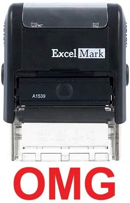 WTF? ExcelMark Self Inking Novelty Message Stamp A1539 Red Ink