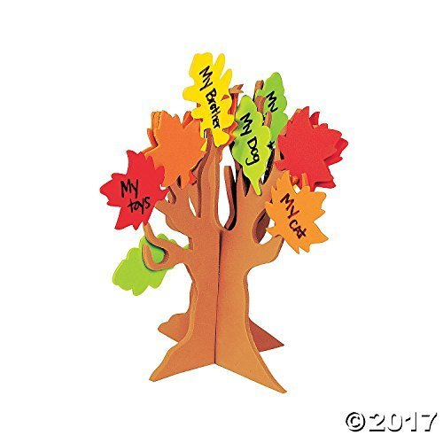 Standing Tree Of Thanks Craft Kit - Crafts for Kids & Decoration Crafts (Tree Craft Kit)