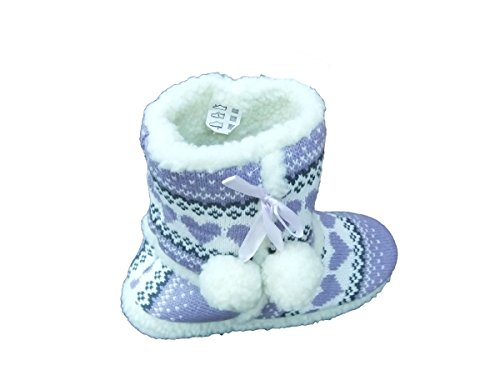 Amazing boot women slippers style Health for knitted Violet Heart zz7C4wqR