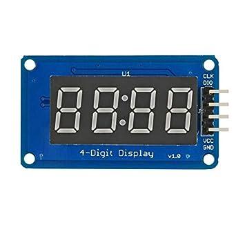 """JDDRCASE Módulo de Pantalla LED de 4 dígitos de 0.36""""Brillo de Tubo Digital Ajustable"""