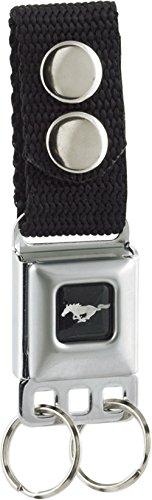 Ford Motors - Mustang Logo - Metal Ring Key Chain Keychain