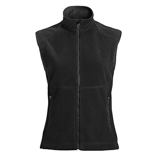 Landway Women's Bonded 3 Layer Micro Fleece Vest, Black, XXX-Large ()