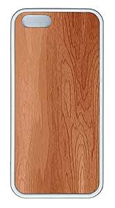 iPhone 5 5S Case Woodgrain TPU Custom iPhone 5 5S Case Cover White
