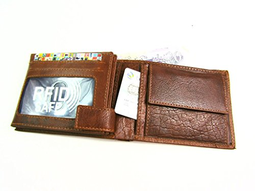 Wallet Protected Leather Credit Holder Brown Purse Premium Quality Card New RFID YpXxX5
