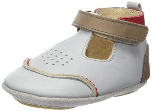 Robeez Salomon - Zapatos Bebé-Niñas gris (gris Clair)