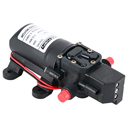 Amarine-made 12V Water Pressure Diaphragm Pump 5.0 L/min 1.3 GPM 60W Self Priming RV Booster Sprayer Pump Micropump For Home Garden Caravan/RV/Boat/Marine