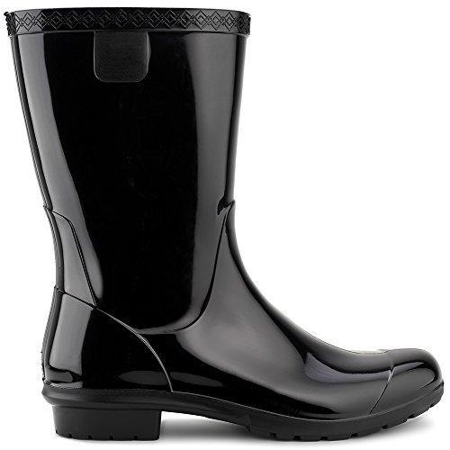 UGG Kids K Raana Rain Boot, Black, 4 M US Big Kid (Rain Ugg Boots)