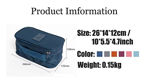 Multifunction Travel Organizer Underwear Toiletry Cosmetic Storage Bag by ShopIdea (Wine Red)