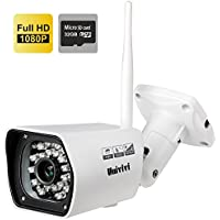 Univivi 1080P Bullet Waterproof Wireless Outdoor Home Security Camera System,Wireless WiFi,Build-in 32GB TF Card Recording,Night Vison, Plug&Play,Support iPhone, Android Smart Phones, PC and Mac