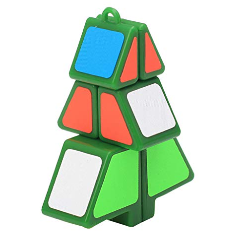 (Alimao 2019 New Magic Cube 1X2X3 Christmas Tree Cube Puzzle Ultra-Smooth Magic Puzzle Xmas Gifts)