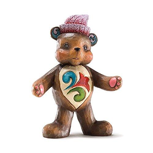 Enesco Jim Shore Heartwood Creek Mini Teddy Bear Figurine, 3-3/4-Inch