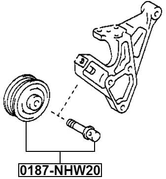 Pulley Idler For Toyota 1663021020 16630-21020