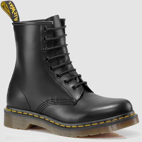 Dr. Marten's Women's 1460 8-Eye Patent Leather Boots, Black Smooth Leather, 6 F(M) UK / 8 B(M) US Women / 7 D(M) US Men by Dr. Martens