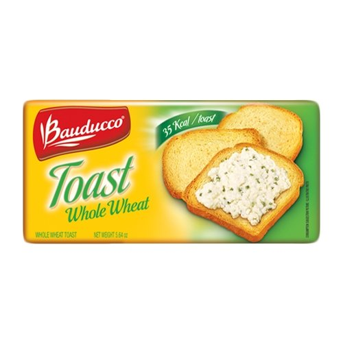 Bauducco Whole Wheat Toast - 5.64 oz | Torrada Integral Bauducco - 160g - (PACK OF 02)