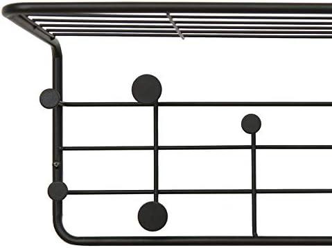 Amazon Brand - Movian Ljungan Wall-Mounted Floating Coat Rack, 51.5 x 24 x 21cm, Black