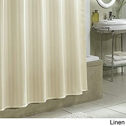 Ex-Cell Damask Stripe Fabric Shower Curtain Liner Linen Excell 1CE-040O0-6011//285