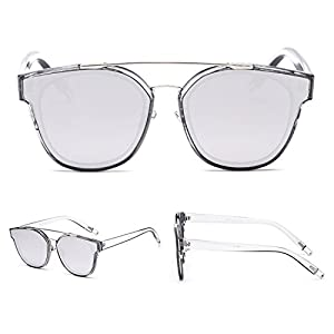 SojoS Classic Sunglasses for Women Men Metal Frame Mirrored Lens SJ2038 SJ1008