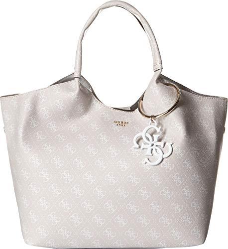 Guess Flora, Women's Shoulder Bag, Beige (Sand/San), 47x25x17.5 cm (W x H L)