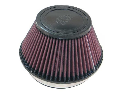 K&N RU-4600 Universal Clamp-On Air Filter: Round Tapered; 6 in (152 mm) Flange ID; 4 in (102 mm) Height; 7.5 in (191 mm) Base; 4.5 in (114 mm) Top