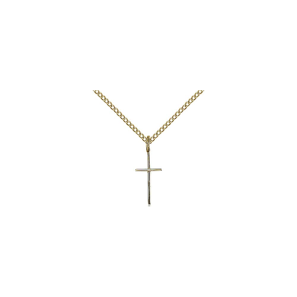 DiamondJewelryNY Gold Filled Cross Pendant