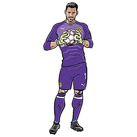 Gr/ö/ße 1 Wandsticker BVB Comic Spieler Marco Reus Borussia Dormund Fu/ßball Bundesliga Sport Verein Tricot Illustration Mittelfeld Sticker selbstklebend Wall-Art