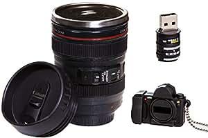 Camera Lens Coffee Mug & 16gb USB Flash Drive (24-105mm) Ultimate Photographer Gift Set