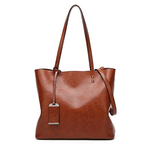 grande capacité en à Sac cuir main bandoulière Green à Coffee Sacs main Designer Sacs à bandoulière sac sacs Femmes Bolsas Dame 4APwxvP