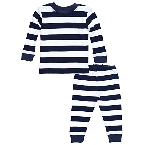 Under the Nile Baby Long Johns - 6m - Rugby Navy (Dog Long John Pajamas)