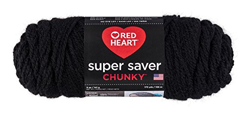 Red Heart Super Saver Chunky, Black Yarn